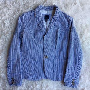 Gap Women's blazer striped fully lined size 4